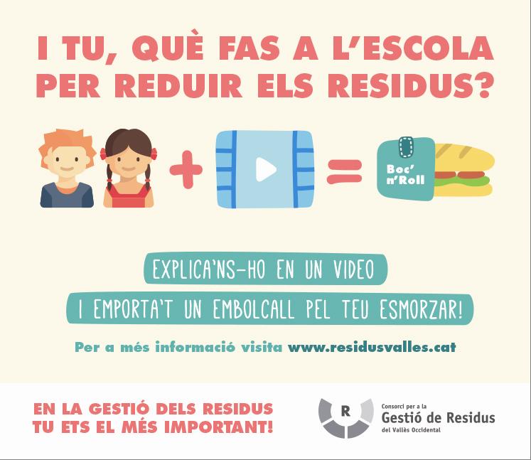El Consorci de Residus proposa a les escoles explicar en un vídeo què fan per reduir la generació de residus