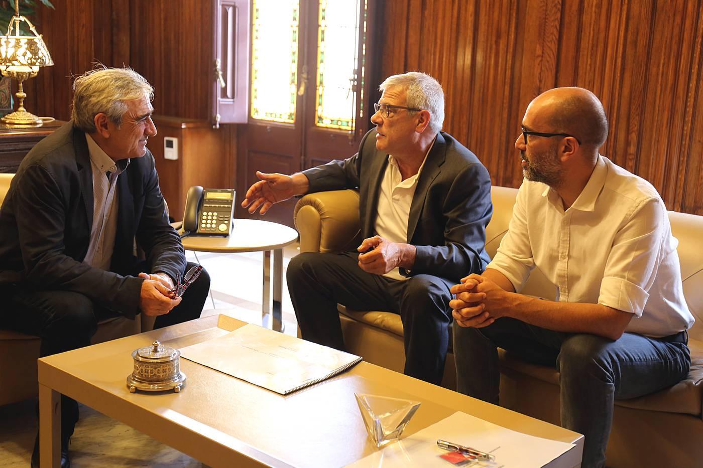 Reunió del president del Consorci amb l'alcalde de Terrassa per presentar el projecte de la nova seu